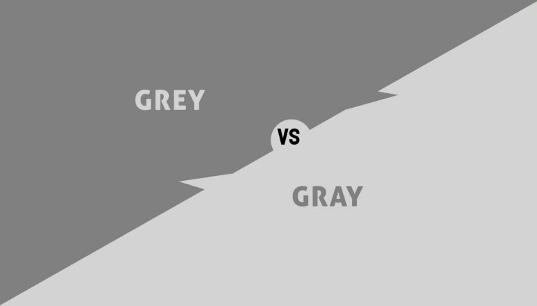 Difference Between Grey and Gray